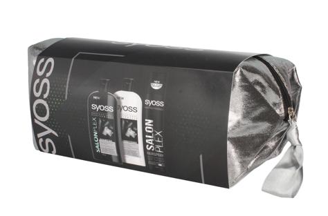 """Syoss Zestaw prezentowy Salon Plex (Szampon 500ml+Odżywka 500ml+Lakier 300ml)"""""""