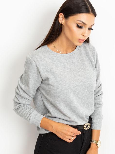 Szara bluza basic                              zdj.                              3