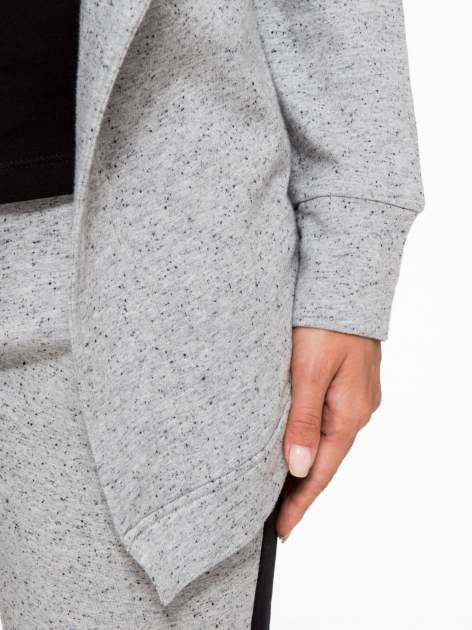Szara bluza dresowa typu kardigan                                  zdj.                                  7