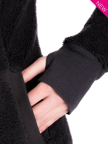 Szara bluza futerkowa z kapturem i rękawami z otworem na kciuk                                  zdj.                                  14