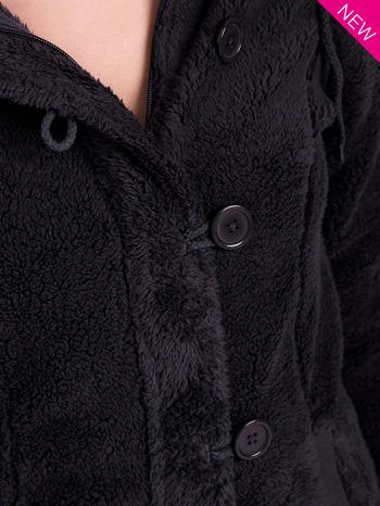 Szara bluza futerkowa z kapturem i rękawami z otworem na kciuk                                  zdj.                                  9