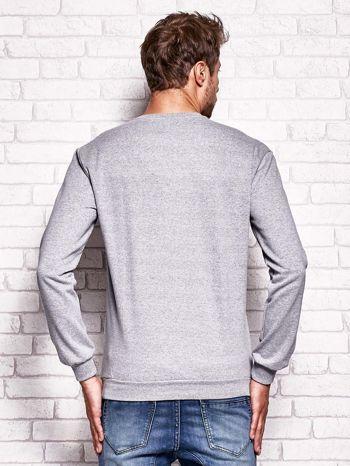 Szara bluza męska z napisem NEW YORK