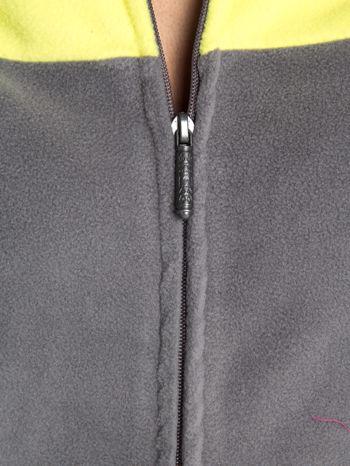 Szara bluza polarowa z kapturem z uszkami                                  zdj.                                  4