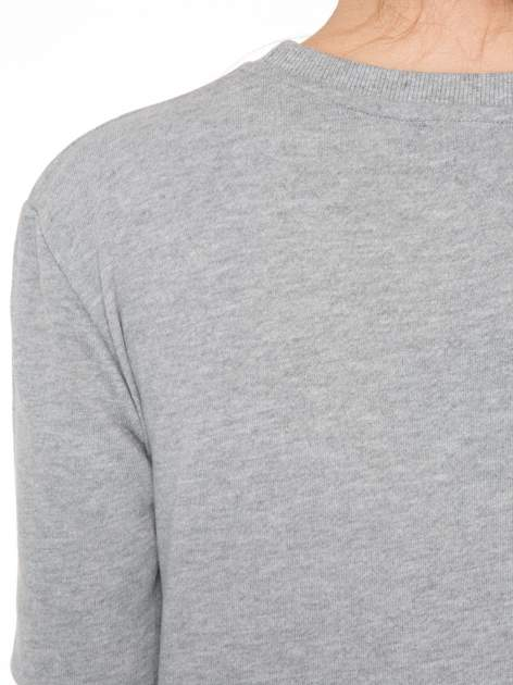 Szara bluza z nadrukiem CÉLINE PARIS                                  zdj.                                  7