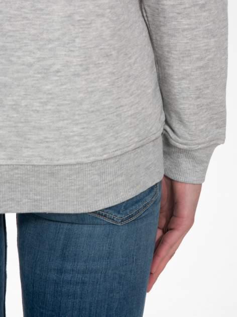 Szara bluza z nadrukiem LA MODE                                  zdj.                                  8