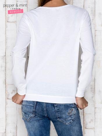 Szara bluza z nadrukiem łabędzi i napisem CUTE MINIMALIST                                  zdj.                                  2