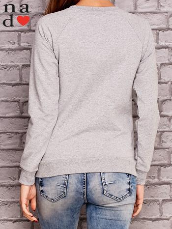 Szara bluza z napisem MAM FOCHA                                  zdj.                                  4