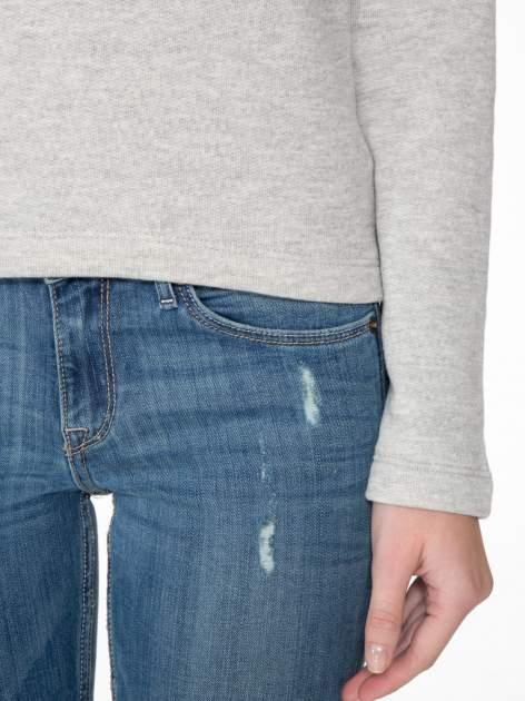 Szara bluza z ozdobnym suwakiem                                  zdj.                                  6