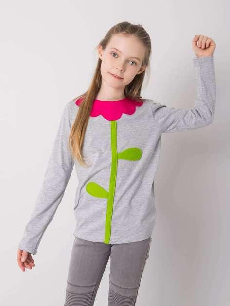 Szara bluzka dla dziewczynki DODO KIDS
