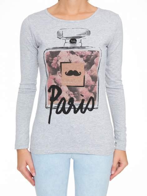 Szara bluzka z motywem Paryża                                  zdj.                                  6