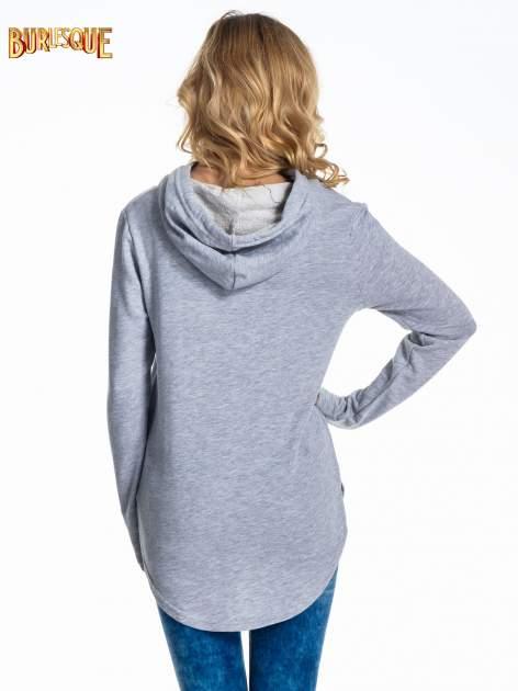 Szara damska bluza z kapturem i napisem ART                                  zdj.                                  4