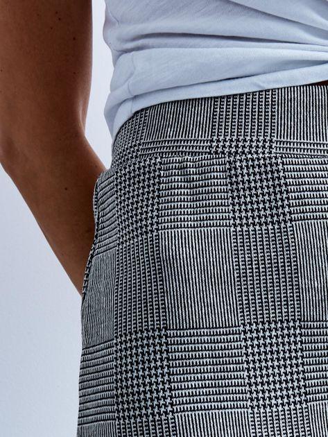 Szara długa spódnica ołówkowa w kratę                              zdj.                              7