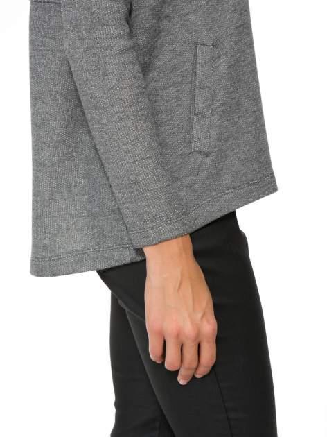 Szara dresowa bluza oversize z kieszeniami                                  zdj.                                  10