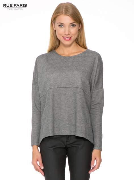 Szara dresowa bluza oversize z kieszeniami                                  zdj.                                  1