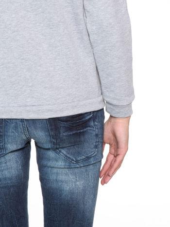 Szara dresowa bluza z kotem z motywem Instagrama                                  zdj.                                  10