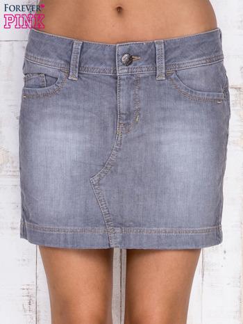 Szara jeansowa spódnica mini