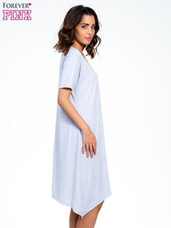 Szara luźna sukienka z asymetrycznym dołem                                  zdj.                                  3