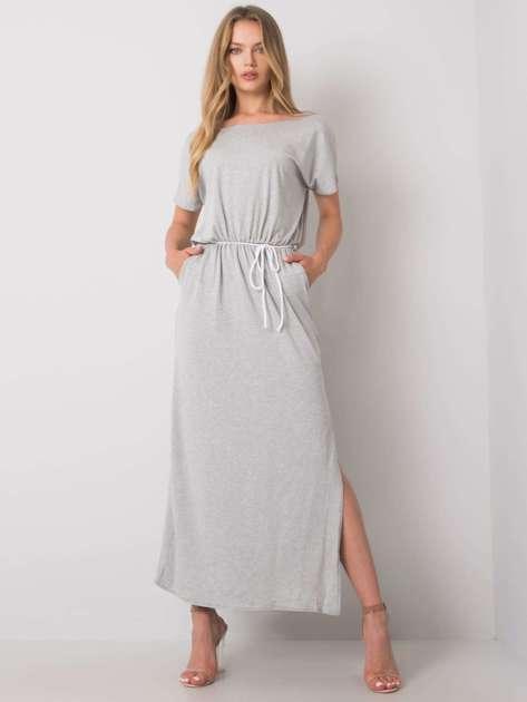 Szara melanżowa sukienka na co dzień Jana