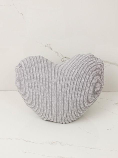 Szara ozdobna poduszka