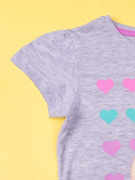 Szara piżama dla dziewczynki BARBIE                                  zdj.                                  5