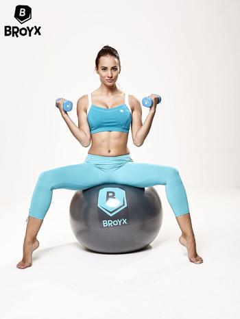 Szara średnia piłka fitness                                  zdj.                                  6