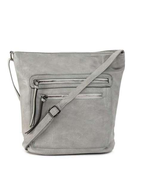 Szara torba damska ze skóry ekologicznej