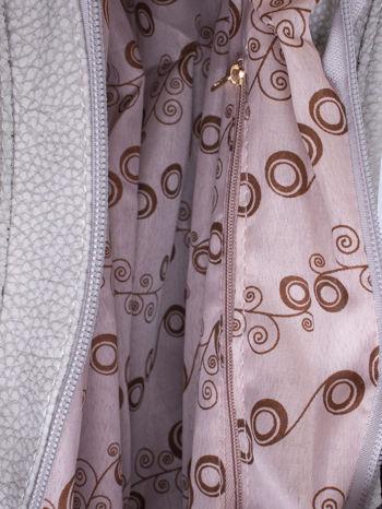 Szara torba hobo z klamerkami                                  zdj.                                  5