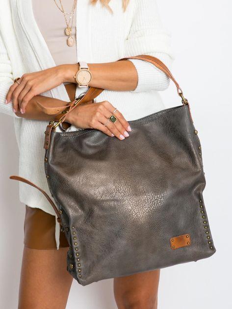 Szara torba na ramię z ekoskóry                              zdj.                              5