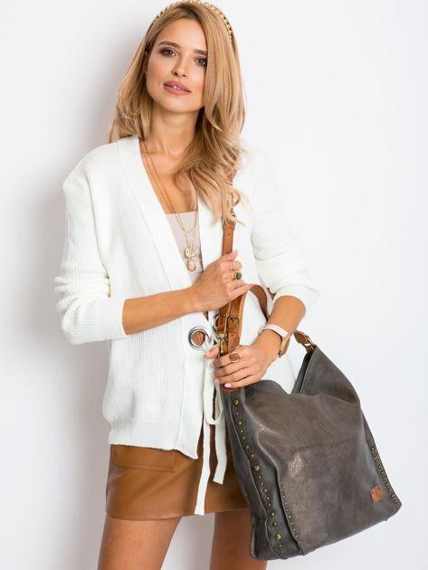 Szara torba na ramię z ekoskóry                              zdj.                              1