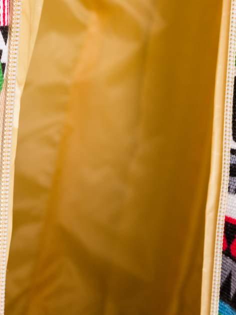 Szara torba plażowa w azteckie wzory                                  zdj.                                  10