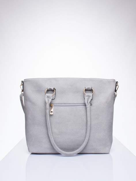 Szara torba shopper bag z suwakiem                                  zdj.                                  3