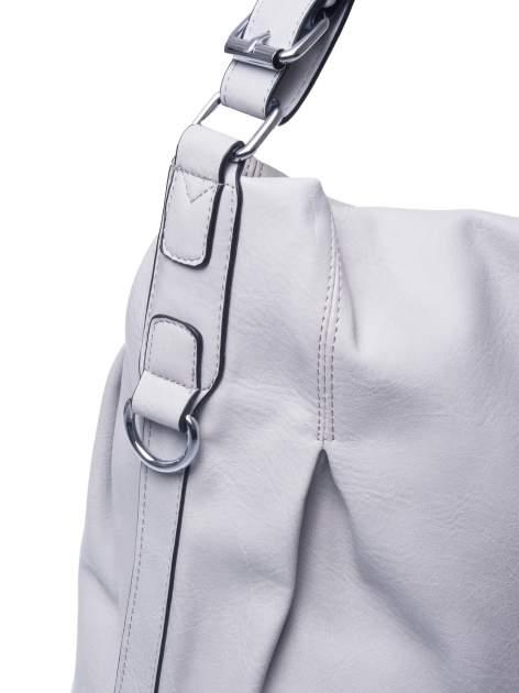 Szara torebka hobo na ramię                                  zdj.                                  4