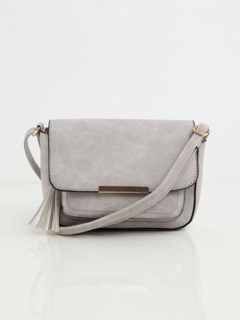 Szara torebka z klapką
