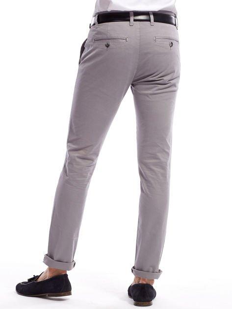 Szare bawełniane spodnie męskie chinosy                               zdj.                              2