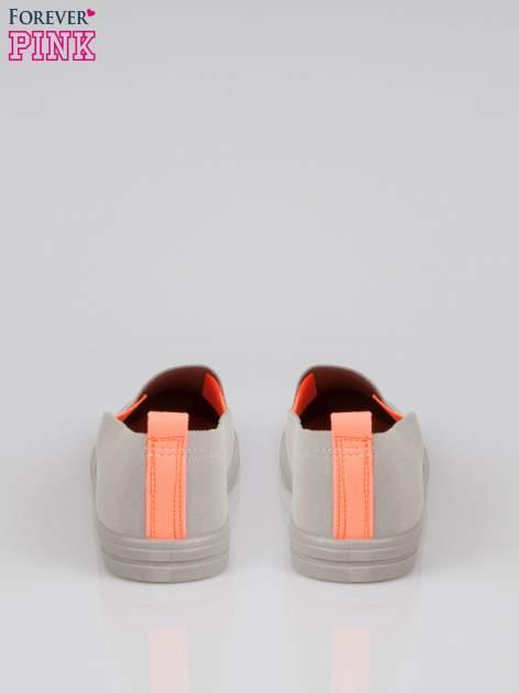 Szare buty slip on z fluo gumką                                  zdj.                                  3
