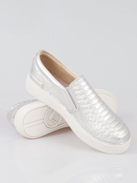 Szare buty sliponki glitter                                  zdj.                                  4