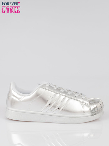 Szare buty sportowe material Enigmatic z metalicznym czubkiem                                  zdj.                                  1