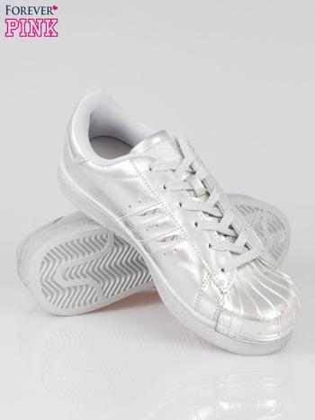 Szare buty sportowe material Enigmatic z metalicznym czubkiem                                  zdj.                                  4