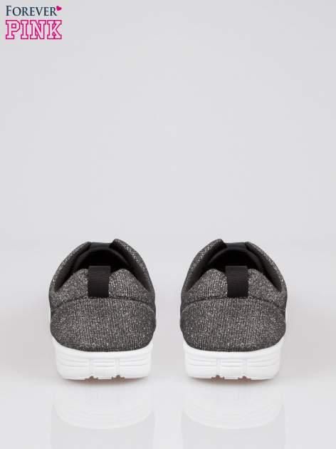 Szare buty sportowe textile Diamonds z metaliczną nitką                              zdj.                              3