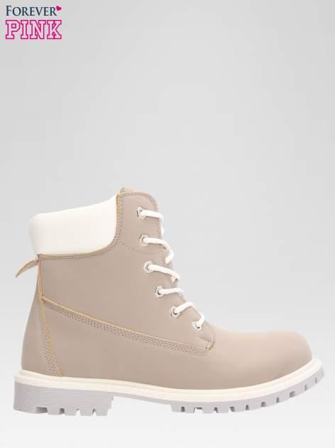 Szare buty trekkingowe damskie traperki