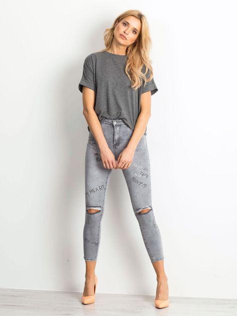 Szare jeansy Chambray                              zdj.                              5