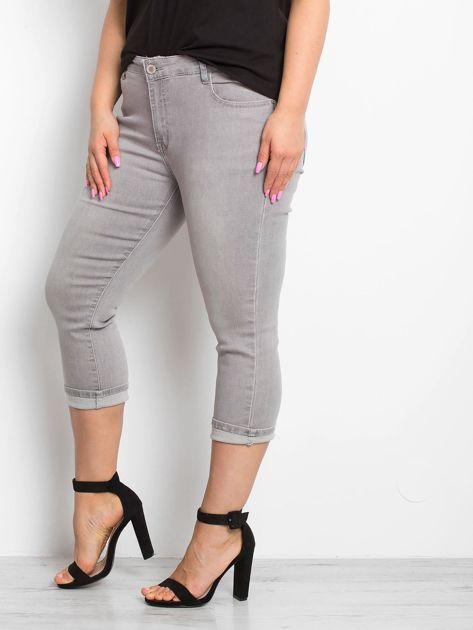 Szare jeansy plus size Sherbet                              zdj.                              3