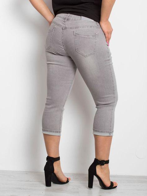 Szare jeansy plus size Sherbet                              zdj.                              2