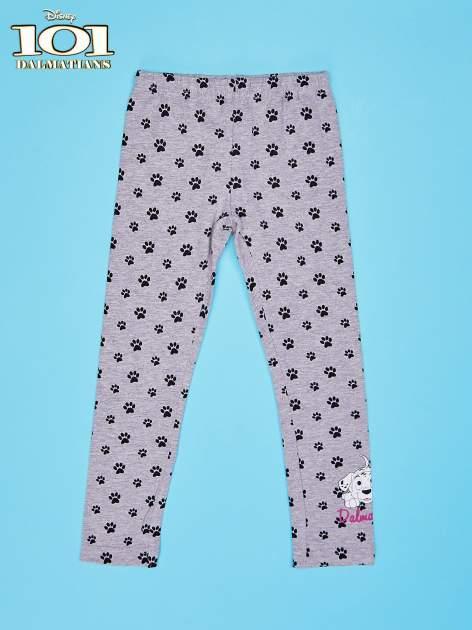 Szare legginsy dla dziewczynki motyw 101 DALMATYŃCZYKÓW                                  zdj.                                  1
