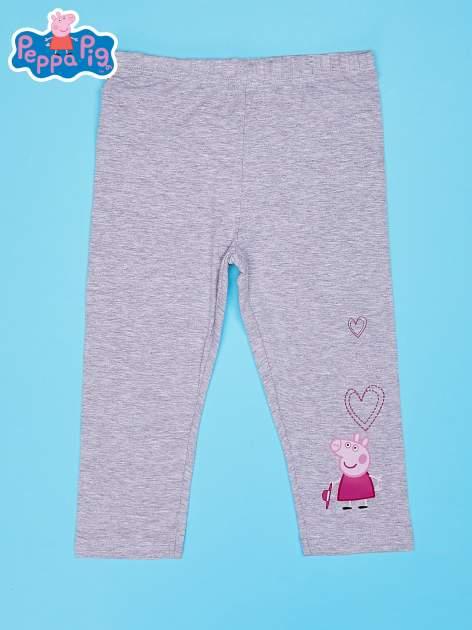 Szare legginsy dla dziewczynki nadruk ŚWINKA PEPPA