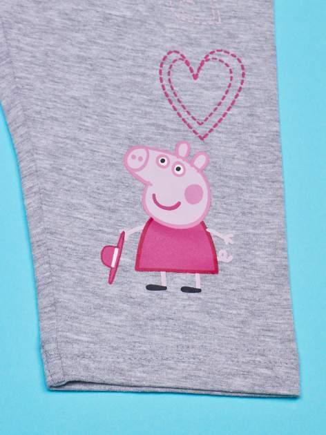 Szare legginsy dla dziewczynki nadruk ŚWINKA PEPPA                                  zdj.                                  3
