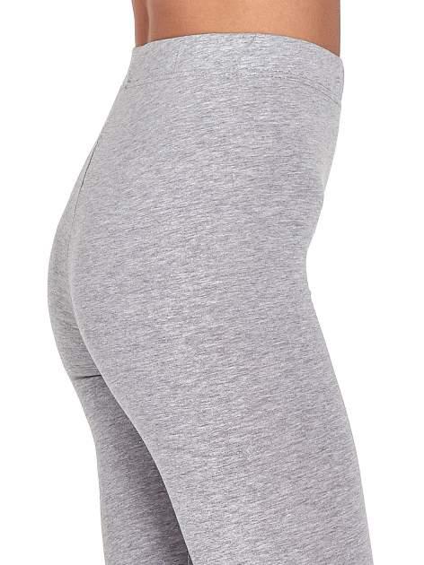Szare melanżowe legginsy damskie basic                                  zdj.                                  6