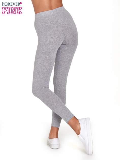 Szare melanżowe legginsy damskie basic                                  zdj.                                  4