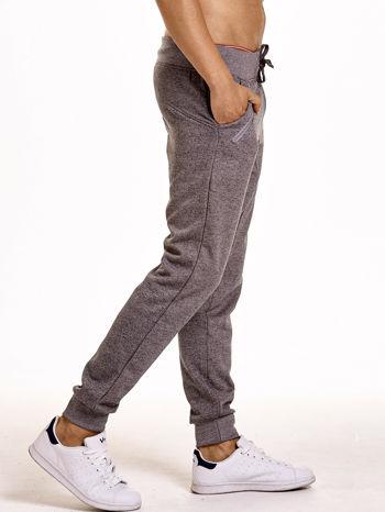 Szare melanżowe spodnie męskie z zasuwanymi kieszeniami                                  zdj.                                  4