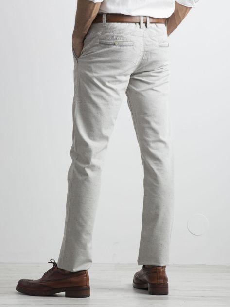 Szare męskie spodnie chino                              zdj.                              2